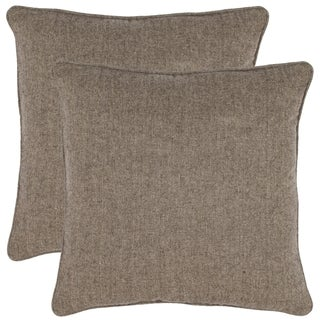 Safavieh Solid 18-inch Grey Decorative Pillows (Set of 2)