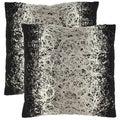 Safavieh Swirls 18-inch Black Decorative Pillows (Set of 2)