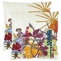 Safavieh Tropics 18-inch Cream Decorative Pillows (Set of 2)