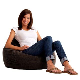 BeanSack Ultra Black Microfiber Suede Bean Bag Chair