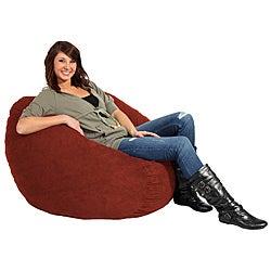 FufSack Cinnabar Red Microfiber 3-foot Bean Bag Chair
