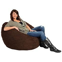 FufSack Chocolate Brown Microfiber 3-foot Bean Bag Chair