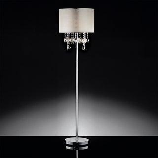 TRIBECCA HOME Audrina Drape Crystal Floor Lamp