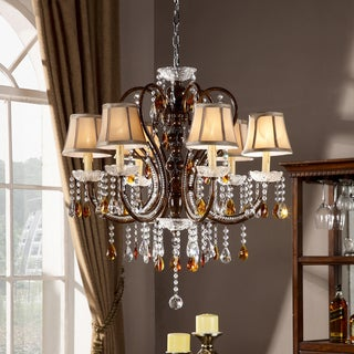 TRIBECCA HOME Clarissa Tea Crystal Ceiling Lamp
