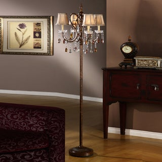 TRIBECCA HOME Clarissa Tea Crystal Floor Lamp