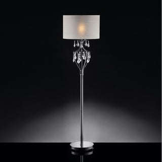TRIBECCA HOME Elena Refined Crystal Floor Lamp