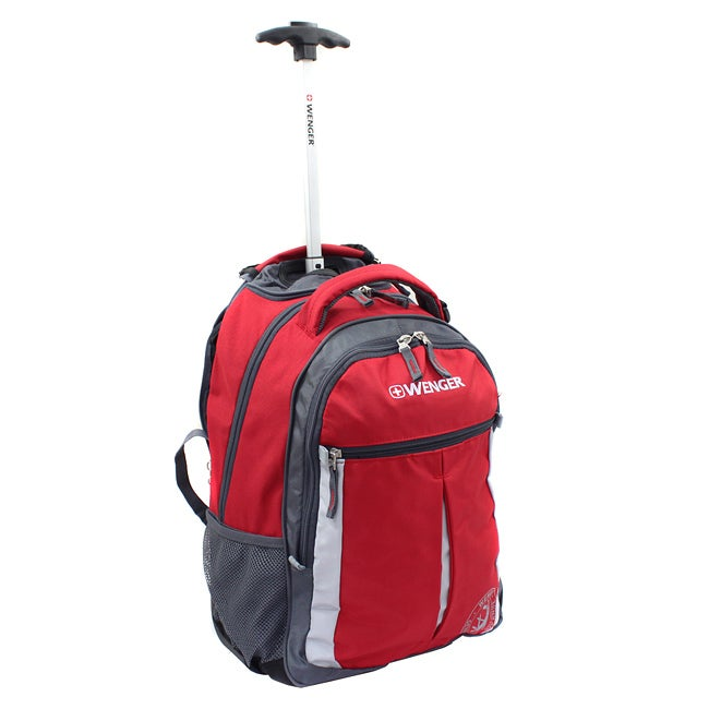 Wenger Swiss Gear Red 18-inch Rolling Carry-On Backpack