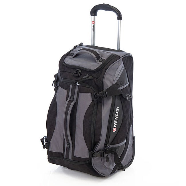 Wenger Swiss Gear Black 24-inch Polyester Rolling Sport Duffle Bag