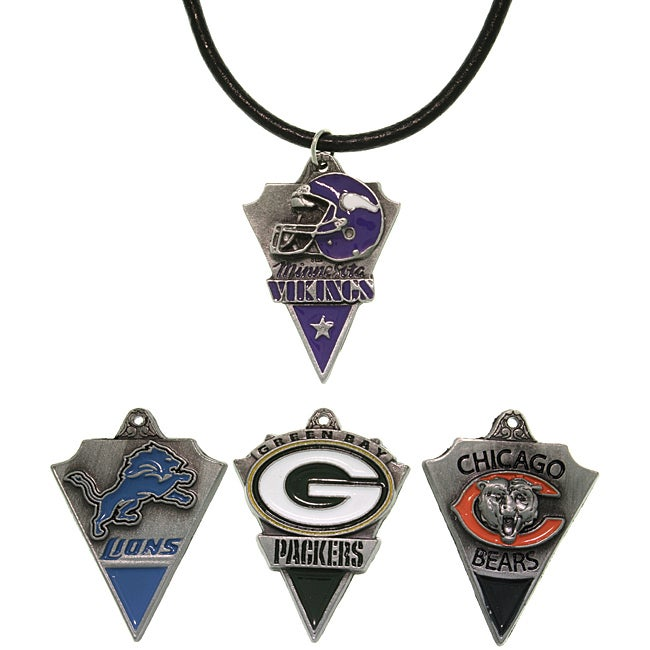 CGC Pewter Unisex NFC North Team Licensed NFL Pennant Necklace