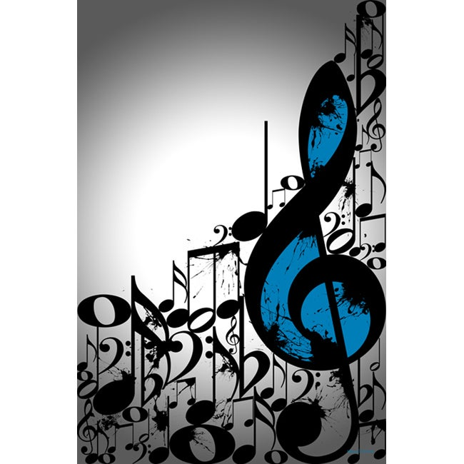 Maxwell Dickson Music Notes Typography Wall Art