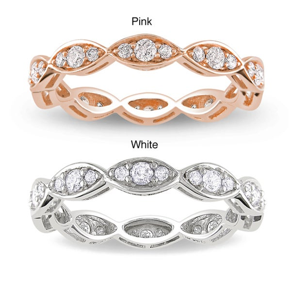 Miadora 14k Gold 1/2ct TDW Vintage Diamond Eternity Ring (G-H, I1-I2)