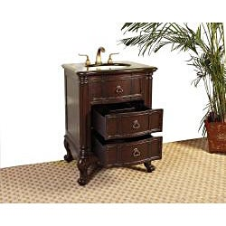 Marble Top 26-inch Single Sink Bathroom Vanity