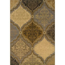 Gray-and-Gold Transitional Area Rug (3'10 x 5'5)