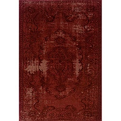 Red Area Rug (5' x 7'6)