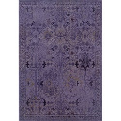 Purple/ Grey Transitional Area Rug (3'10 x 5'5)