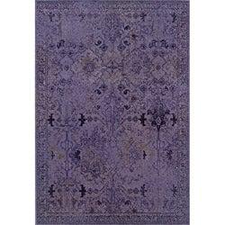 Purple/ Grey Transitional Area Rug (6'7 x 9'6)