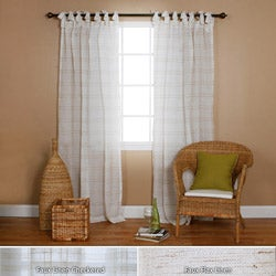 Lights Out Faux Linen Tie-top 84-inch Curtain Panel Pair