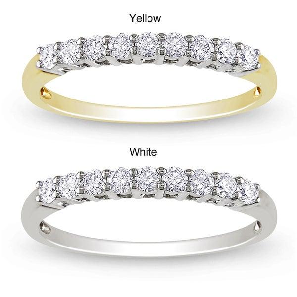 Miadora 14k Gold 1/4ct TDW Diamond Anniversary Ring (G-H, SI1-SI2)