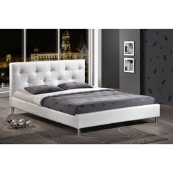 Barbara Soft White Tufted Upholstered Queen Size Bed