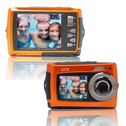 Aqua 5800 Orange 18MP Dual Screen Waterproof Digital Camera with Micro 16GB