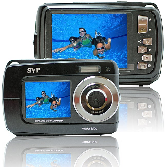 Aqua 5500 Black 18MP Dual Screen Waterproof Digital Camera