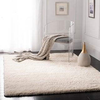 Safavieh Cozy Solid Ivory Shag Rug (9'6 x 13')
