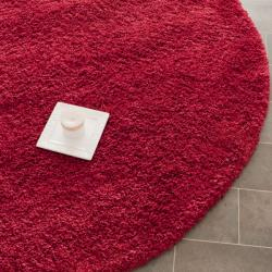 Safavieh Cozy Solid Red Shag Rug (4' Round)