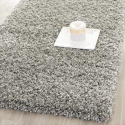 Safavieh Cozy Solid Silver Shag Rug (2'3 x 9')