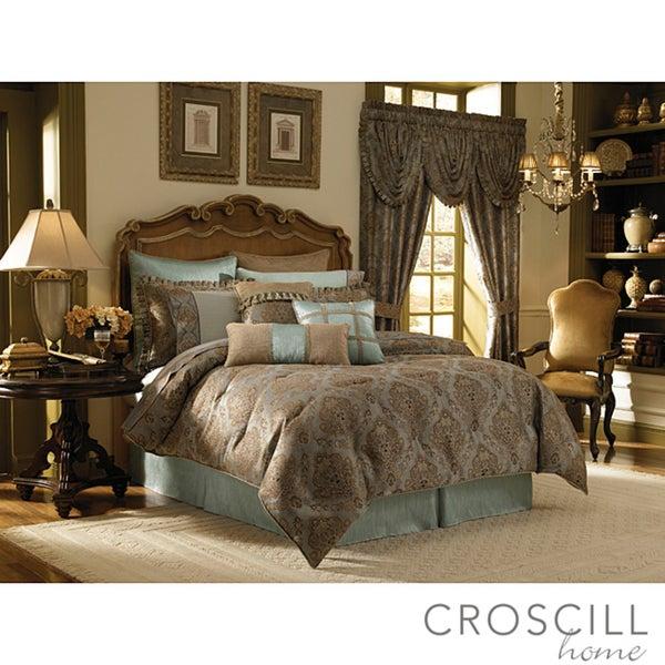 Croscill Home Laviano Aqua Queen-size 4-piece Comforter Set