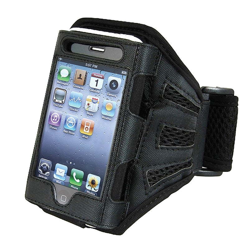 INSTEN Black/ Black Armband for Apple iPhone 4S/ 3GS/ iPod touch
