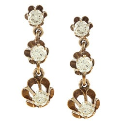 Pre-owned 14k Yellow Gold 1-1/3ct TDW Estate Earrings (L-M, SI1-SI2)