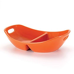 Rachael Ray Serveware Orange 14-inch Divided Dish
