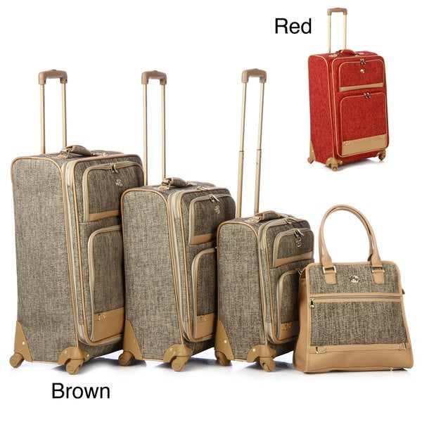 Oleg Cassini 4-piece Luggage Spinner Set