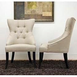 Daphne Beige Linen Dining Chair