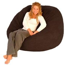 FufSack Chocolate Brown Polyester Microfiber Bean Bag Chair