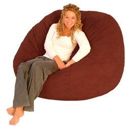 FufSack Cinnabar Red Microfiber Bean Bag Chair