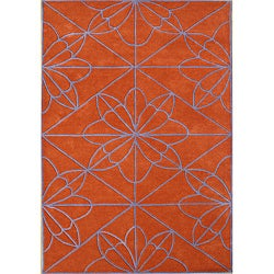 Alliyah Handmade Red Orange New Zealand Blend Wool Rug (8' x 10')
