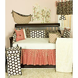 Cotton Tale Raspberry Dot 8-piece Crib Bedding Set