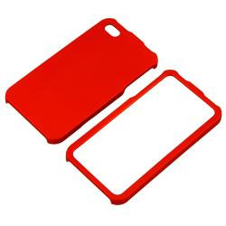 BasAcc Red Snap-on Rubber Coated Case for Apple iPhone 4/ 4S