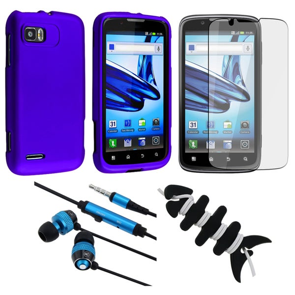 INSTEN Blue Phone Case Cover/ Protector/ Headset/ Wrap for Motorola MB865 Atrix 2