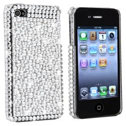 BasAcc Silver Diamond Snap-on Case Version 2 for Apple iPhone 4/ 4S