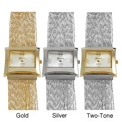 Geneva Platinum Women's Multi-strand Link Watch