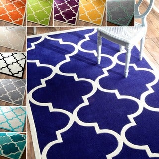 nuLOOM Handmade Luna Moroccan Trellis Rug (7'6 x 9'6)