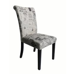 Monsoon Voyage Upholstered Black Dining Chairs (Set of 2)