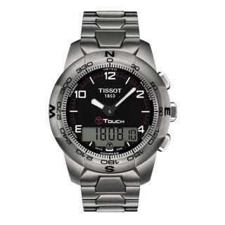 Tissot Men's 'T Touch II' Black Chronograph Dial Titanium Watch