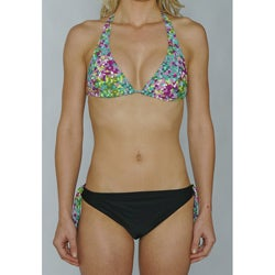 Island Love Women's Green Digital Bikini