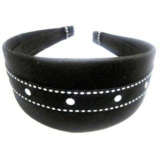 Crawford Corner Shop Black and White Dot Headband