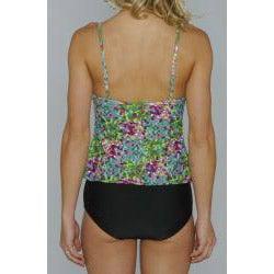 Island Love Young Missy 'Green Digital' Faux Tankini Swimsuit