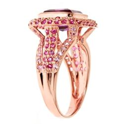D'Yach D'yach Rose Gold over Silver Amethyst, Pink Sapphire and Thai Ruby Ring
