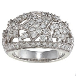 Pre-owned Platinum 2-1/10ct TDW Star Estate Ring (H-I, SI1-SI2)